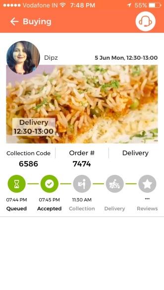 My order at PinStove