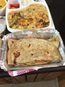 Buttery Soft Rotis (with the Biryani at the back)
