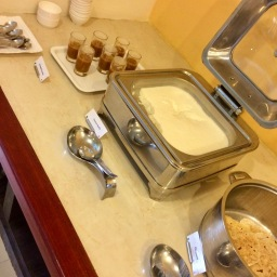 Desserts: Coconut Souffle and Pineapple Payasam