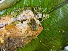 Veg Mezhukkuperatty, Chicken Peattu, Beans Thoran, Chammanthi