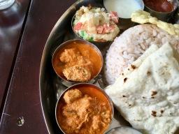 Bade Miya Thali - Fish Curry, Omlette, Curd, Pickle, Phulka