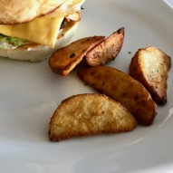 Potato Wedges with Bongo Chicken Burger