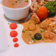 Pot Roast Chicken with Chateubriand Sauce
