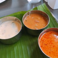 Pulissery, Sambar, Fish Curry