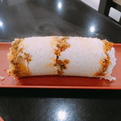 Prawn Stuffed Puttu