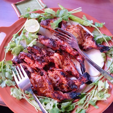 Charcoal Grilled Prawns